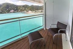Opinión del balcón sobre el barco de cruceros Imágenes de archivo libres de regalías