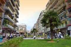 Opinión del cuadrado de Salónica Imagen de archivo
