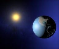 Opinión del espacio de la tierra América Fotos de archivo libres de regalías