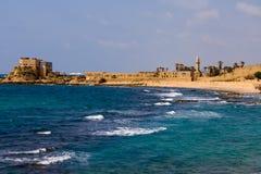 Opinión del mar de Caesarea Imagen de archivo libre de regalías