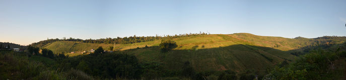 Opinión del panorama de la tina Berk, Petchabun, Tailandia de Phu Foto de archivo