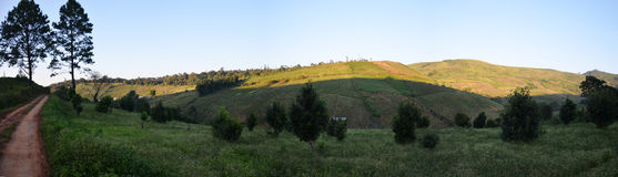 Opinión del panorama de la tina Berk, Petchabun, Tailandia de Phu Fotografía de archivo