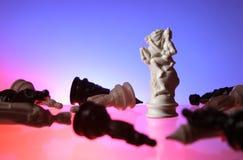 Opinión del primer del ajedrez. Foto de archivo libre de regalías