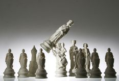 Opinión del primer del ajedrez. Fotografía de archivo