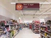 Opinión del supermercado Foto de archivo