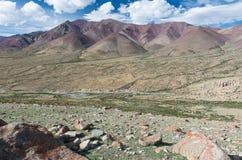 Opinión del valle de Markha Imagen de archivo libre de regalías