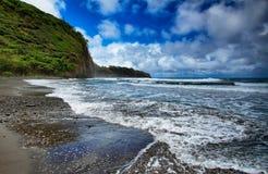 Opinión del valle de Pololu en Hawaii Imagen de archivo