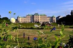 Opinión del verano del palacio del belvedere Imagen de archivo