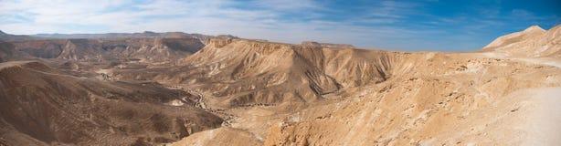 Opinión panorámica del desierto del Néguev Imágenes de archivo libres de regalías