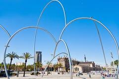 Opinión sobre el museo marítimo, Barcelona Foto de archivo libre de regalías