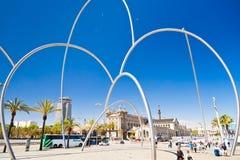 Opinión sobre el museo marítimo, Barcelona Fotografía de archivo libre de regalías