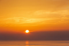 Opinión sobre puesta del sol de Oia Fotografía de archivo