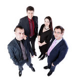 Opinión superior cuatro hombres de negocios Fotografía de archivo