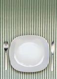 Opinión superior de la placa de cena Foto de archivo