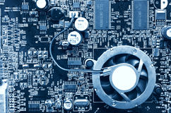 Opinión superior del chip de ordenador Imagen de archivo