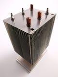 Opinión superior del disipador de calor de la CPU Imagen de archivo