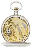 Opinión superior el movimiento de cobre amarillo del reloj de bolsillo del vintage Fotos de archivo
