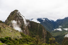 Opinión superior sobre la ciudad perdida del inca Imagen de archivo