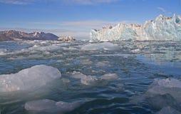 Opiniónes alrededor del glaciar de Mónaco Fotos de archivo libres de regalías