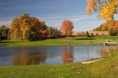 Opinião 08 do golfe Fotografia de Stock