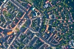 Opinião aérea da cidade de Nysa Fotografia de Stock