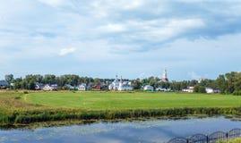 Opinião aérea da cidade de Suzdal Imagem de Stock Royalty Free