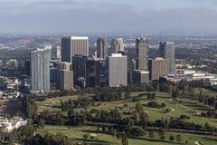 Opinião aérea da tarde da cidade do século em Los Angeles Califórnia Fotos de Stock Royalty Free