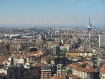 Opinião aérea de Milão Fotografia de Stock Royalty Free