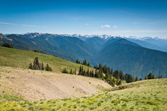 Opinião cênico das montanhas e das geleiras de Ridge do furacão Foto de Stock
