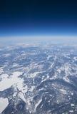 Opinião da alta altitude da tundra congelada no ártico Fotos de Stock Royalty Free