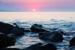 Opinião da manhã do mar Mediterrâneo Fotografia de Stock Royalty Free