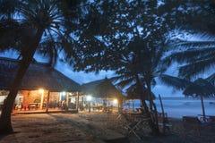 Opinião da noite da praia Fotografia de Stock
