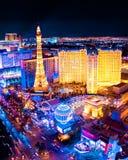 Opinião da noite de Las Vegas Foto de Stock