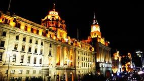 Opinião da noite de Shanghai Imagens de Stock Royalty Free