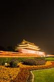 Opinião da noite de Tiananmen Imagem de Stock