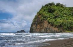 Opinião da praia de Pololu na ilha grande Foto de Stock Royalty Free