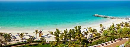 Opinião da praia e do mar dos UAE Fotografia de Stock Royalty Free