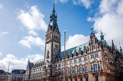 Opinião da rua de Hamburgo do centro, Alemanha Imagem de Stock Royalty Free