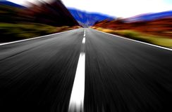 Opinião da velocidade do borrão Imagens de Stock