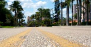 Opinião de baixo ângulo da estrada Fotografia de Stock
