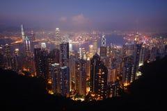 Opinião de Hong Kong da montagem Victoria Fotografia de Stock Royalty Free