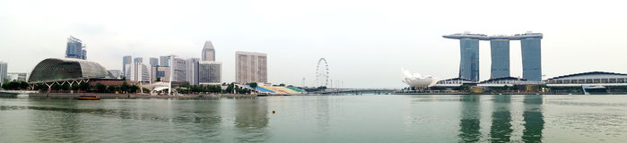 Opinião de Marina Bay Sands Singapore Panorama Fotos de Stock Royalty Free