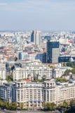 Opinião de ângulo alto de Bucareste Foto de Stock Royalty Free