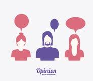 Opinio desing  illustration Stock Photography