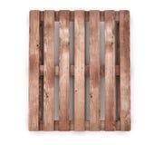 Opinião dianteira da pálete de madeira velha do transporte Fotografia de Stock Royalty Free
