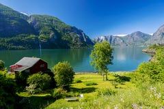 Opinião do Fjord Foto de Stock Royalty Free