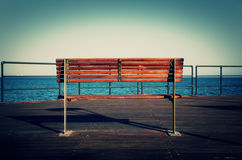 Opinião do mar - Limassol, Chipre, mediterrâneo Fotografia de Stock