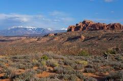 Opinião do Mesa com montanhas Imagem de Stock Royalty Free