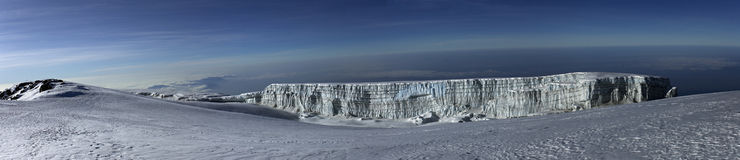 Opinião do panorama de Mt. Kilimanjaro. Fotografia de Stock