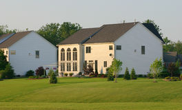 Opinião do quintal da grande casa Foto de Stock